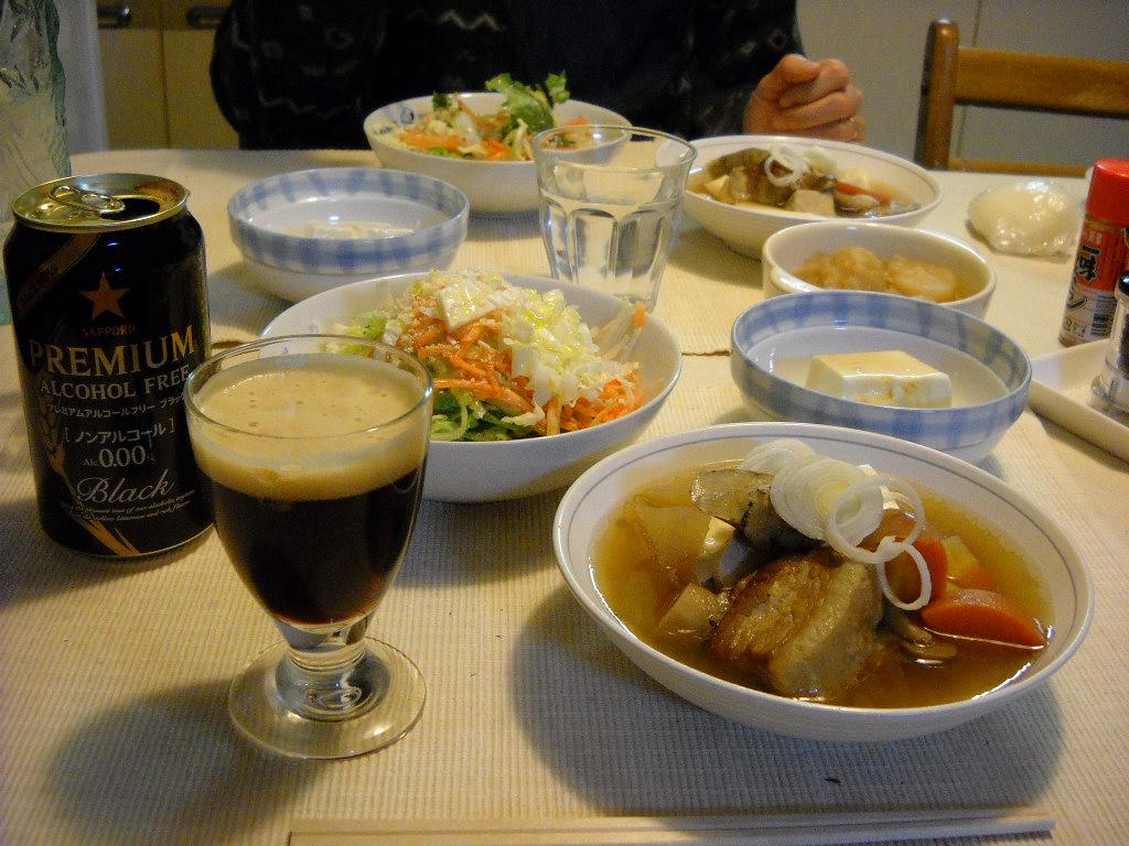 肉豆腐とプレミアム・ブラックゼロ