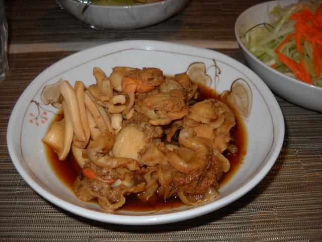 ホタテとイカの煮物