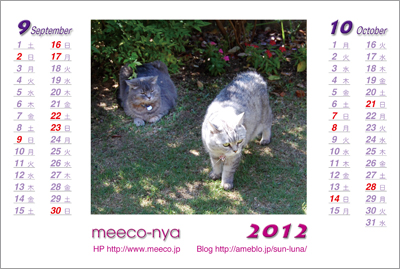 カレンダーmeeco2012-9