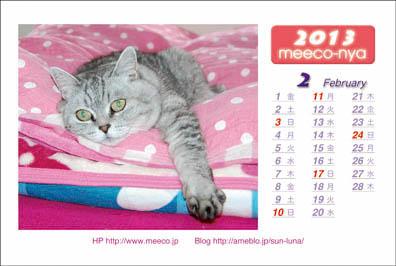ミーコカレンダー2013_02