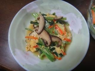 小松菜の卵とじ0206