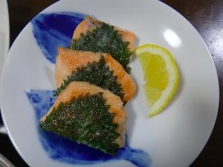 鮭のしそ巻き焼き0609
