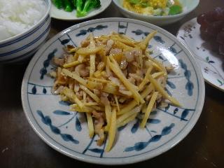 豚肉とたけのこのザーサイ炒め0616