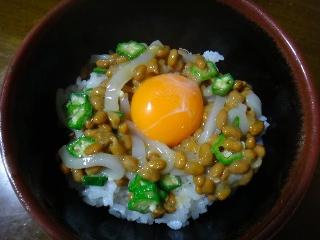いか納豆オクラ丼