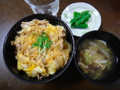 豚玉丼0707