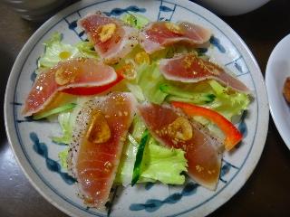 まぐろのたたき風サラダ