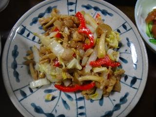 白菜細切り炒め0808