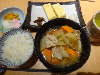 豚汁定食0812