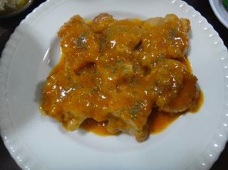チキンのパプリカ風味煮0821