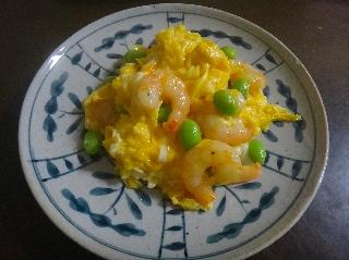 えび卵炒め