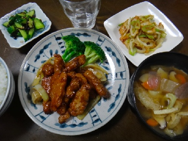 夕飯1013