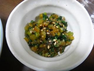 セロリの葉の甘辛