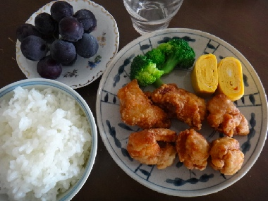 お昼の唐揚げ