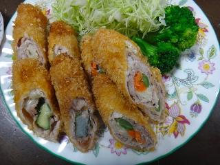 野菜肉巻きフライ1113