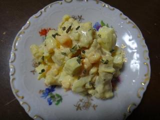 カリフラワー入り卵サラダ
