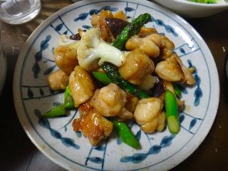鶏とカリフラワーの中華炒め