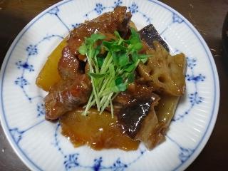 豚肉と大根のカラメルロースト