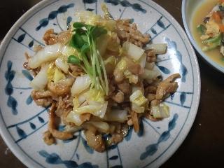 豚肉と白菜の炒め物0206