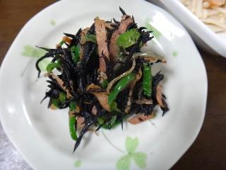 ひじきのベーコン炒め1216
