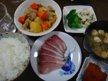夕飯120109