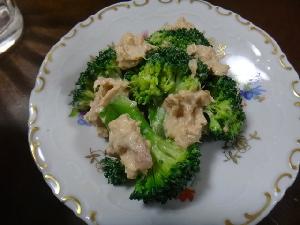 ブロッコリーとツナのサラダ