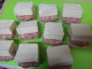 肉はさみ豆腐