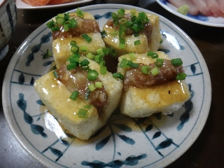 肉はさみ揚げ出し豆腐0215