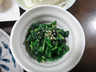 ほうれん草の塩麹ナムル