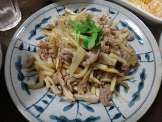 豚肉とたけのこのザーサイ炒め0319