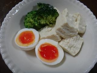 塩麹卵&豆腐