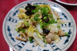 豚肉と白菜の細切り炒め1102