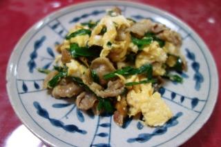 豚肉とニラの卵炒め1103