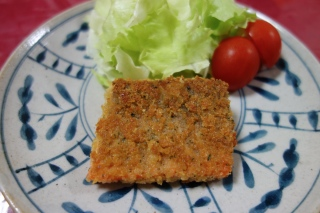 鮭のサクサクパン粉焼き1109