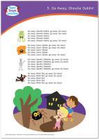ハロウィーン 歌詞ポスター