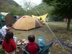 朝露のキャンプ場