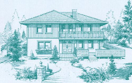 スカンジナビア・フラットの家