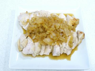 130526鶏ムネ肉の香味野菜ソース