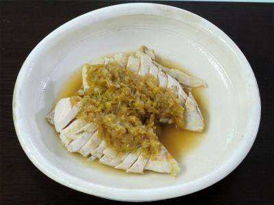 130622蒸し鶏の油淋鶏 (4)