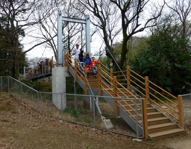 砧公園の吊り橋2