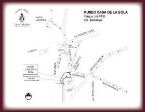 Mapa de museo Casa de la Bola