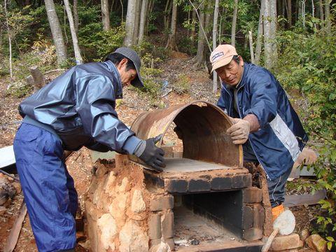 里山ピザ窯造り