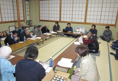 4月13日のさくら祭り成功に向けての会議を開催。