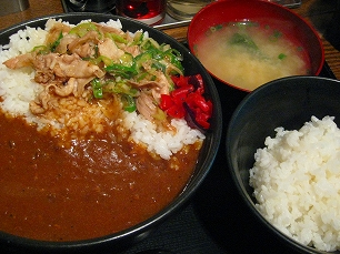 すた丼@生姜焼きカレー