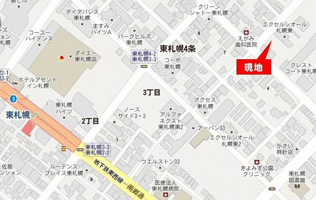東札幌5-3地図