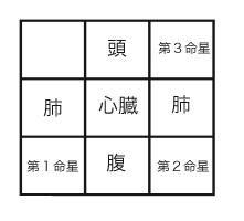 西川式/命式配置図