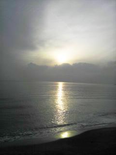 2011年冬至の夕陽