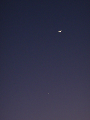1月27日の金星と月
