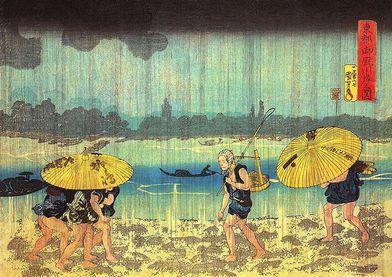 歌川国芳『東都御厩川岸之図』
