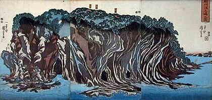 歌川国芳『江ノ島』