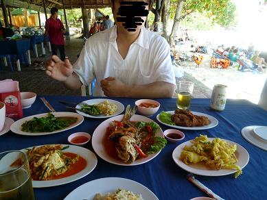 無人島での食事